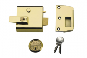 Rim automatic deadlatch with key-locking handle-Key4Freedom